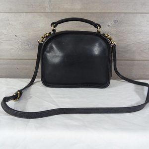 Coach 9991 Black Leather Lunch Box Crossbody Bag